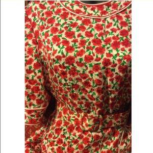Gene Roye Dresses - Gene Roye Vintage 1960's 100% silk floral Dress